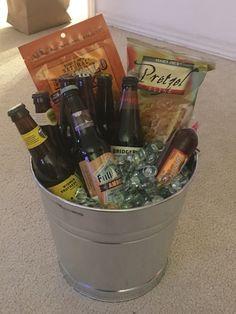 Beer gift basket do it yourself pinterest beer gifts gift and beer gift basket solutioingenieria Images