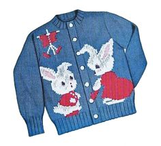 Peter Rabbit Sweater PATTERN Knit O Graf 203 cardigan pullover for Children sz 2 4 6 8 Graph knitting pattern  PDF instant download by BlondiesSpot on Etsy