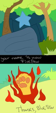 Firepaw\'s Apprentice Ceremony