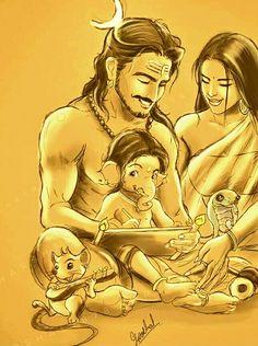 Arte Shiva, Shiva Art, Ganesha Art, Krishna Art, Shiva Parvati Images, Shiva Hindu, Shiva Shakti, Hindu Art, Lord Shiva Pics