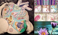 In inima mea bate o viata - pictura de Maria Dermengiu Online Gallery, Waves, Colors, Modern, Artwork, Work Of Art, Colour, Wave