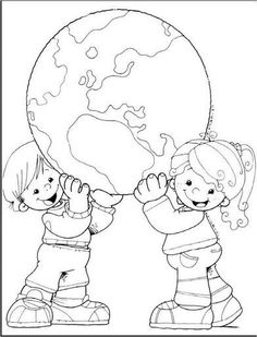 Earth Day Drawings on Earth Day 2019 - 22 April 2019 Earth Day Coloring Pages, Colouring Pages, Coloring Sheets, Adult Coloring, Coloring Books, Cultures Du Monde, Earth Day Crafts, Earth Day Activities, Thinking Day