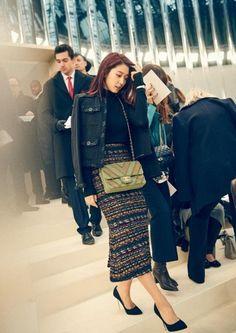 Park Shin Hye x G-DIE invites Chanel haute couture fashion show - Park Shin Hye-Chanel - Korea Fashion, Japan Fashion, Chanel Fashion Show, Just Style, Haute Couture Fashion, Chanel Couture, Park Shin Hye, Paris Shows, Korean Actresses