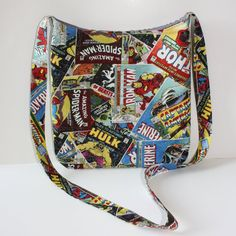 Marvel Comic Classics Crossbody bag by danaswove on Etsy, $29.00
