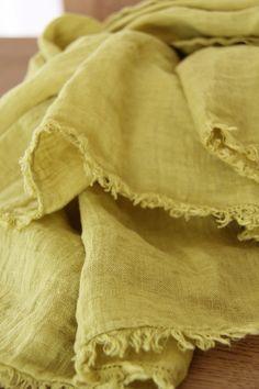 Linen Scarf Mustard
