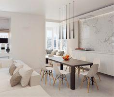 Stoletova Street Apartment by Alexandra Fedorova | HomeAdore | Salle ...