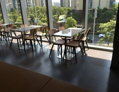 our 658 dinning chairs used in a restaurant in Guangzhou, China..... this style made of metal frame & wooden back rest & seat... so modern, so comfortable... right?