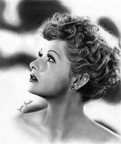 Lucille Ball done in pencil. Lucille Ball done in pencil. Lucille Ball done in pencil. Lucille Ball done in pencil. Lucille Ball done Lucille Ball, Portrait Au Crayon, Pencil Portrait, Portrait Art, Portrait Photography, Celebrity Drawings, Celebrity Portraits, Celebrity News, Celebrity Style