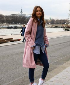 Manteau rose | allybing.com | #outfit #casual #look #inspi #tenue #fashion #blog #suisse