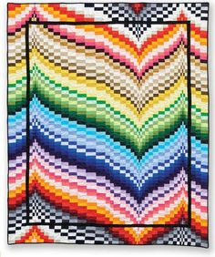 Stunning Bargello design was made from the pattern Freckles Frency by Patti Carey (available from Quiltwoman.com)
