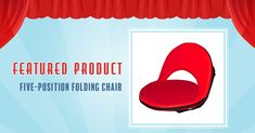This clever 5-Position Folding Chair with an adjustable strap is sized right for both kids and adults. Choose from FIVE different positions! #HomeTheater #FloorSeating Unique Flooring, Floor Seating, Chair Price, Take A Seat, Folding Chair, Games To Play, Clever, Positivity, Kids