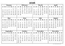 2016 yearly calendar landscape 07