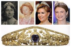 The Grand Duchess Marie-Adélaïde Tiara. This versatile tiara belonged to the very first reigning grand duchess of Luxembourg, Marie-Adélaïde. It's a diamond tiara with floral and leaf motifs, and its center stone can be swapped out to include either a diamond or a sapphire.