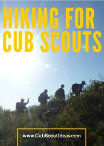 Check out this free resource!  The hiking requirements for every Cub Scout rank all in one place.