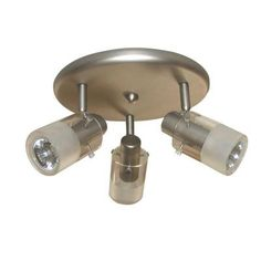 Hampton Bay 3-Light Brushed Steel Ceiling-Mount Round Light Fixture