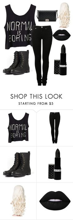 """Untitled #43"" by shadesofhemmo ❤ liked on Polyvore featuring MM6 Maison Margiela, Hard Candy, Lime Crime and Chanel"