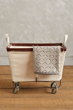 Medium Mobile Canvas Bin - anthropologie.com
