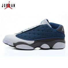 23ea4b6e8a3025 310810-401 Air Jordan 13 Retro Low (white dark blue)