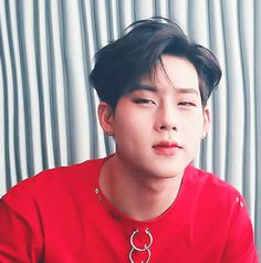 This is a gif of Jooheon from the Kpop boy band MONSTA X.