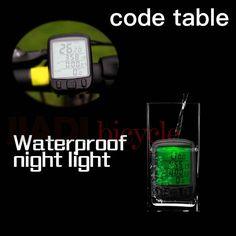 Bicycle Code Table Waterproof Road bike Mountain Bike Fixed gear Foldable bicycle Night light Tachometer Repair tool Equipment