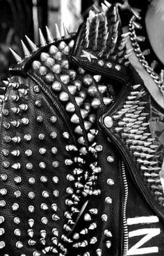 24e227b8703 Punk Rock Style, Punk Rock Fashion, Punk Rock Clothing, Studded Leather  Jacket