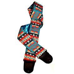 Classic Southwest Native American Motif Handmade Guitar Strap