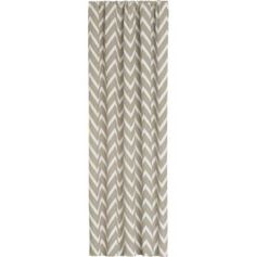 Alston Ivory/Grey Curtain Panels in Curtains | Crate and Barrel