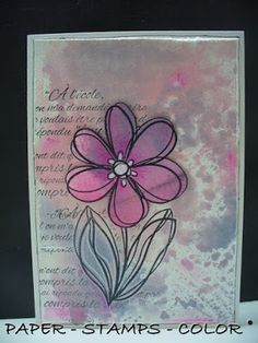 PAPER - STAMPS - COLOR: Scribbly flowers..