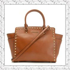 MICHAEL Michael Kors Large Selma Studded Saffiano Tote Brown only $72
