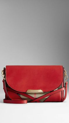 Small Leather House Check Crossbody Bag | Burberry