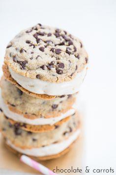 Vegan Ice Cream Sandwiches | chocolateandcarrots.com