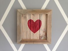 Handmade Reclaimed Wood ❤ Red Love Heart Wall Art Sign Shabby Chic Wedding Gift, £23.99 Stunning Reclaimed Wood Love Heart Plaque Handmade with love from reclaimed wooden boards, our Red rustic love heart picture would make a perfect addition to any family home. We design our own stencils and hand paint all of our work so you can be assured your purchasing a one of a kind bespoke piece. Wedding.. Or Aniversary Gift Anyone...??