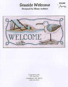 Imaginating Seaside Welcome - Cross Stitch Pattern - 123Stitch.com