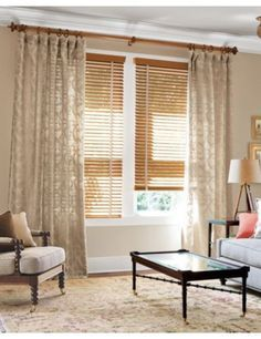 venetian blinds with curtains combo