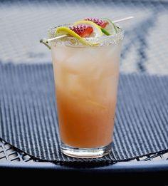 Strawberry Lemonade Spritzer. 4 oz. strawberry lemonade, 3 oz. club soda, 1 oz. tequila, 1 oz. triple sec, 1/2 oz. lime juice. Pour together; garnish with a lemon, lime and strawberries.