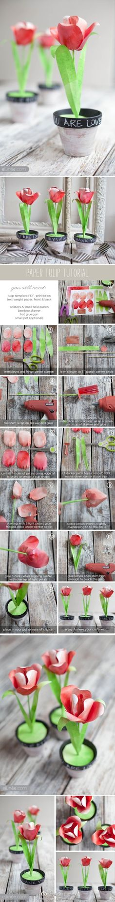 DIY tulips in pink and lilac. make some for dessert table?