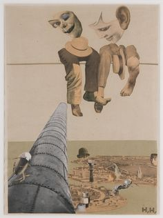 """archives-dada: """"Hannah Höch: Von oben (From Above), photomontage and collage on paper x cm x 8 in.) Des Moines Art Center's Louise Noun Collection of Art by Women through. Dada Collage, Collage Art Mixed Media, Collage Artists, Tristan Tzara, Harlem Renaissance, Photomontage, Dadaism Art, Hannah Hoch Collage, Anita Berber"""