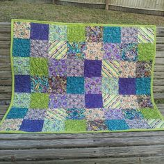 Bohemian baby quilt.