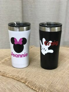 Personalized Disney Themed Yeti Style Cups