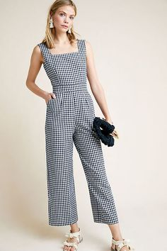 New Black White Gingham Kachel Jumpsuit on Mercari Gingham Jumpsuit, Jumpsuit Shorts, Summer Jumpsuit, Lace Jumpsuit, Mode Hijab, Overall, Boho Outfits, Jumpsuits For Women, Clothes For Women
