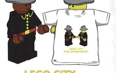 """Fire Fighter Minifigs by Customize My Minifig "" Kids Clothes by ChilleeW 