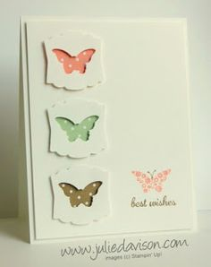Clean & Simple Bitty Butterfly card with Stampin' Up! Papillon Potpourri by Julie Davison http://juliedavison.blogspot.com/2013/09/clean-simple-bitty-butterfly-card.html