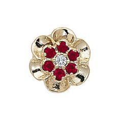 14k Yellow or White Gold Ruby and Diamond Victorian Slide Bracelet GS038-D-R