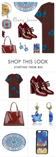 """""""Mary Jane goes to Italy"""" by molly2222 ❤ liked on Polyvore featuring Miu Miu, Tagliamonte, Dolce&Gabbana, Certified International, Rosantica, maryjanes and miumiu"""