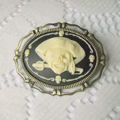 PIRATE Hat Accessory -  Brooch - Ultimate Swashbuckling Pirate Accessory - Blackbeard. $16.00, via Etsy.