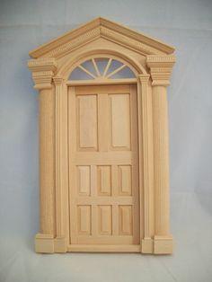 Door - Windsor Exterior T7511 dollhouse miniatures 1/12 scale wooden Victorian | eBay