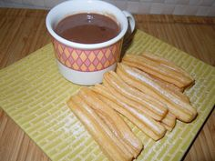 CHURROS (THERMOMIX) Thermomix Soup, Thermomix Desserts, Easy Desserts, Dessert Recipes, Churros, Luxury Food, Cook Up A Storm, Food Hacks, Sweet Recipes