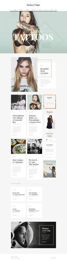 Carine's Closet - Fashion Blog by Romain Briaux. I think this is the most beautiful feminine theme for wordpress.