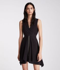 Women's Jayda Silk Dress (black) - Image 2
