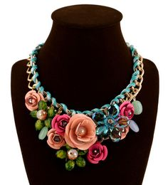 Betsey+Johnson+Fashion+beautiful+color+stereoscopic+flower+necklace+N319+#BetseyJohnson+#Pendant
